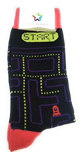 Adults Size Pac Man Maze Socks