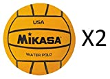 Kyпить Mikasa USA Water Polo Approved Ball, Size 1/2, Training Yellow (2-Pack) на Amazon.com