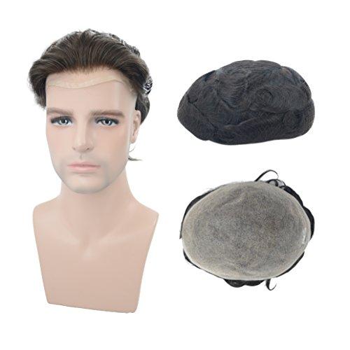 Toupee For Men Human Hair 8 X10 Full Welded Mono