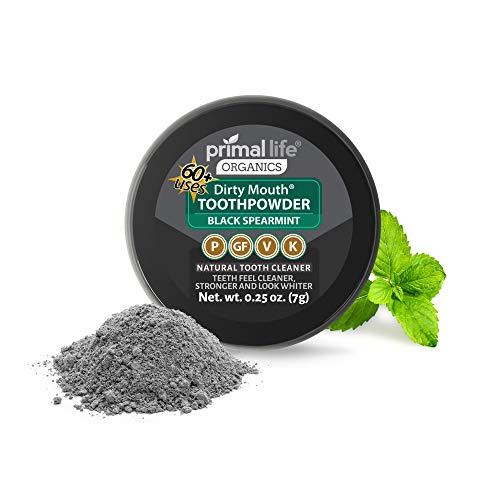 Dirty Mouth Tooth Powder Activated Charcoal Teeth Whitening, Teeth Whitener with Essential Oils and Bentonite Clay, 1…