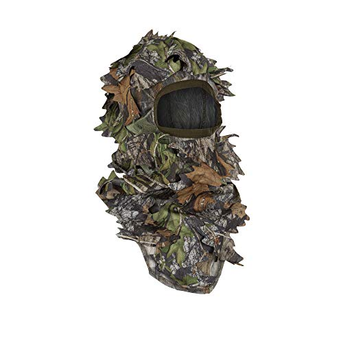North Mountain Gear Ghillie Camouflage Face Mask - Hunting Accessories - Hunting Hat - Turkey Hunting - Hunting Face Mask - 3D Leafy Mossy Oak Diffusion Obsession Camo