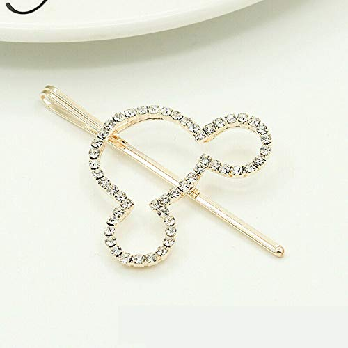 MOPOLIS Fashion Hollow Alloy Crystal Rhinestone Hairpin Barrette Hairdressing Hair Clip | Patterns - Mickey Mouse
