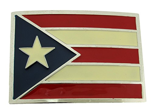 Puerto Rico Flag Belt Buckle (Brand New)