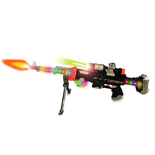 LilPals Super Phantom 3 Toy Rifle Gun - With Dazzling Light, Amazing Sound & Unique Action