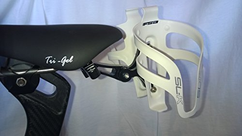 Valdora Dual Water Bottle Holder - Behind The Saddle - Includes FSA SL-K White Cages Valdora Cycles