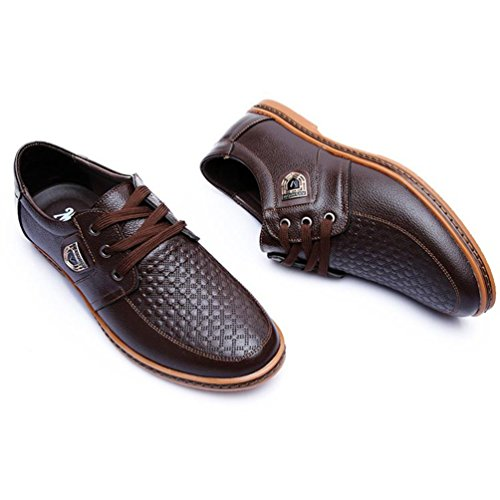 Business Marrone Uomo Casual In Adulto Pelle Lacci Mocassini Scarpe wvnZfTxq