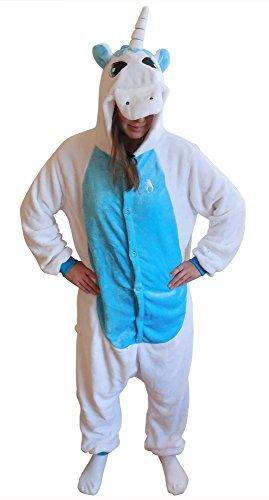 Green Man Factory Adult Animal Onesie Costume - X-Large, Blue Unicorn