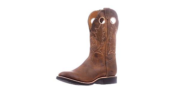 Botas Americanas - Botas Cowboy bo-5222-eee (pie Fuerte) - Hombre - Piel - Marrón: Amazon.es: Zapatos y complementos