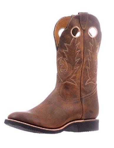 Boulet Hombres Hillbilly Golden Extralight Cowboy Bota Punta Redonda - 5222 Marrón