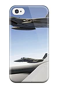 High Impact Dirt/shock Proof Case Cover For Iphone 4/4s (f 15 Eagle Flies With Kc 135 Stratotanker) 1846114K77785842