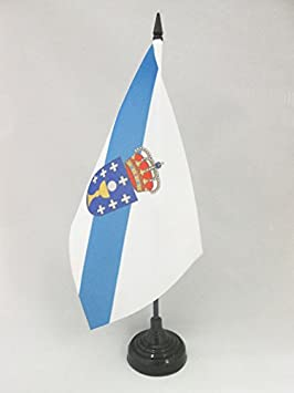 AZ FLAG Bandera de Mesa de Galicia 21x14cm - BANDERINA de DESPACHO ...