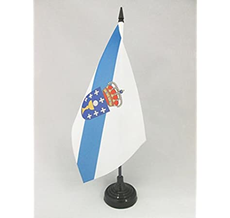 AZ FLAG Bandera de Mesa de Galicia 21x14cm - BANDERINA de DESPACHO GALLEGA 14 x 21 cm: Amazon.es: Deportes y aire libre