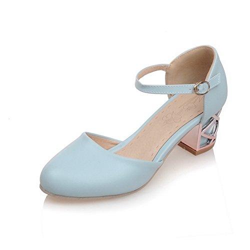 Femme Inconnu 36 Compensées Sandales Bleu Bleu 5 1TO9 qa17t