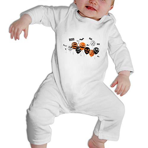 SWEETIE Halloween Balloons Baby Long Sleeve Infant Bodysuit Romper for 6-24months -
