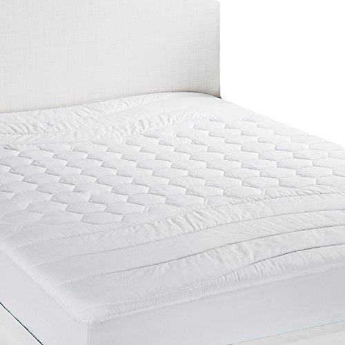 Mattress Pad Twin XL / Twin Extra Long Size Hypoallergenic - Antibacterial, Breathable - Ultra Soft Quilted Mattress Protector, Fitted Sheet Mattress Cover White by Bedsure