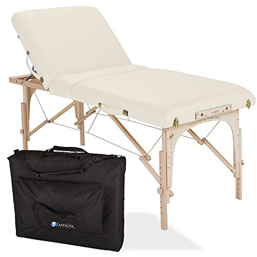 "EARTHLITE Portable Massage Table Package AVALON TILT – Reiki Endplate, Premium Flex-Rest Face Cradle & Strata Cushion, Carry Case (30""x73"") ()"
