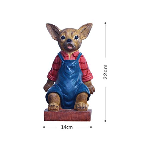 ZPWSNH Chihuahua Door Stop Door Resistance Anti-Collision Free Punching Floor Decoration Creative Cartoon Resin Crafts Book File Book by 14x22cm Bookshelf by ZPWSNH (Image #5)