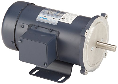 - Leeson 098000.00 SCR Rated DC Motor, 56C Frame, C-Face Rigid Mounting, 1/2HP, 1750 RPM, 90V Voltage
