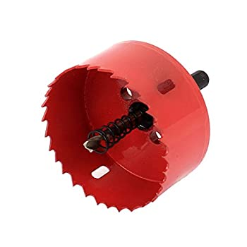 uxcell Wood Iron 75mm Dia Toothed BI Metal Hole Saw Cutter Drill Bit Red