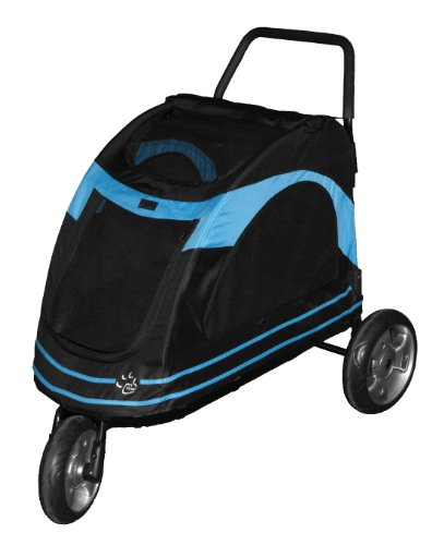 Pet Gear Roadster Pet Stroller for Cats and Dogs, Black/Blue, My Pet Supplies