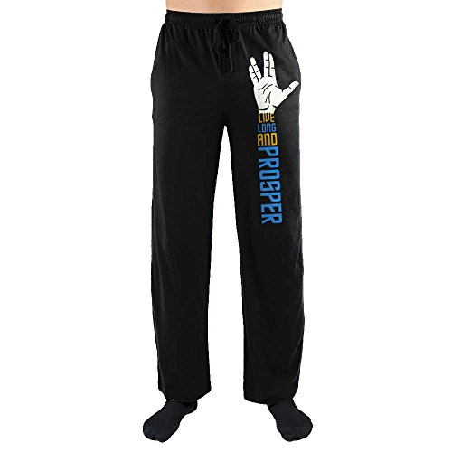 Star Trek Spock Hand Live Long and Prosper Men's Loungewear Lounge Pants Large