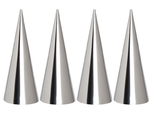 ng Cream Horn Pastry Roll Molds, Stainless Steel, Set of 4, Measures 4.375-Inches Tall ()