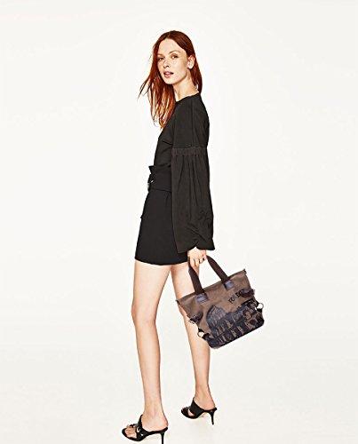Fashion Bags Casual Bag Brown Crossbody Canvas Handbags Shoulder Print Sdinaz Khaki Light Creative qwASxWa