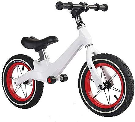 YUMEIGE Bicicletas sin Pedales Rueda neumática Bicicletas sin Pedales, Cuadro de Metal Bicicleta de Equilibrio para niños, Bicicletas sin Pedales Blanco: Amazon.es: Jardín