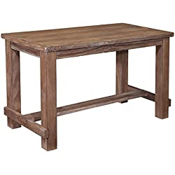Ashley Furniture Signature Design - Pinnadel Counter Dining Table - Weathered Brown Finish w/Gray Undertones