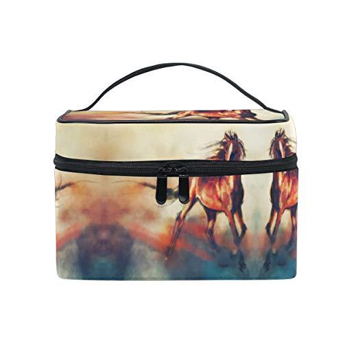 Art Cloud House Women Makeup Bag Travel Cosmetic Bags Toiletry Train Case Beauty Pouch Organizer -