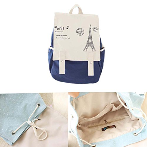 Fashion Student Bag Casual Canvas Rucksack Kleine Fresh Travel Rucksack_A18