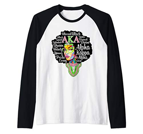 Aka Mens Tee - AKA Sorority Shirt for Alpha Pretty Girl Kappa Women Gift Raglan Baseball Tee