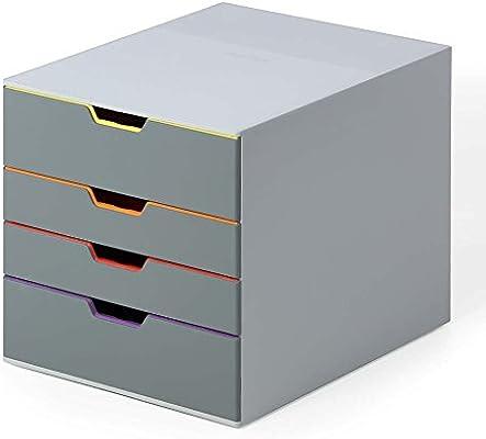Durable Varicolor, cajonera, Monótono, 4 Desk Organiser: Amazon.es ...