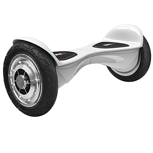 HX Hoverboard UL 2272 Certified Two Wheel Self Balancing Scooter with Bluetooth Speaker, X1L 10″ Electric Self Hover Balancing Board (White)