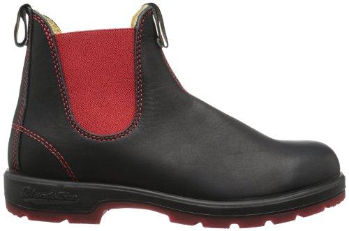 Blundstone Classic Unisex-Erwachsene Chelsea Boots Schwarz (Black/Red)
