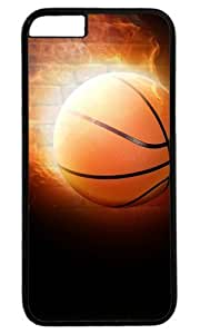 Basketball On Fire Masterpiece Limited Design Case for iPhone 6 Plus PC Black by Cases & Mousepads