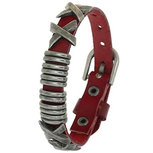 (Hip Hop Alloy Snap X Rivet Leather Bracelet Cuffs Bangle Jewelry Pyramid Stud Cuff Bracelet Adjustable Clasp Buckle)