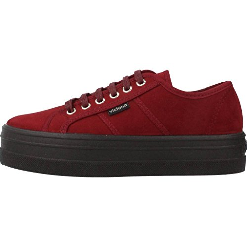 Victoria Donna Rosso Burdeos Sneaker Blucher 41 Antelina rwqRart