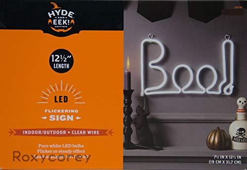 target Halloween Sign LED Flickering Boo Light Up Indoor/Outdoor Decoration]()