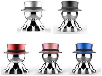 車のブラケット、クリエイティブサクションカップマグネット装飾車の装飾携帯電話ブラケット (色 : B silver)