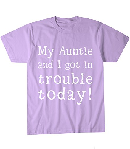 My Auntie and I Got in Trouble Today Toddler Youth and Children T Shirt (2T, Light Purple)