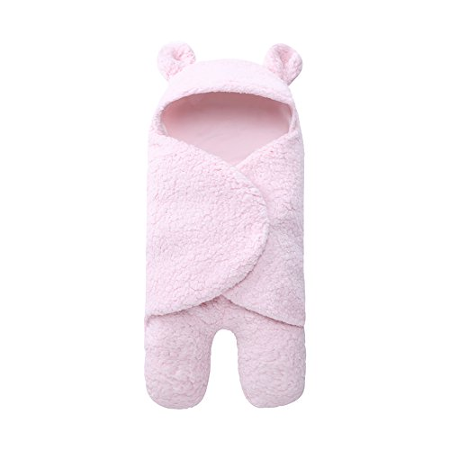 Newborn Baby Boy Girl Cute Cotton Plush Receiving Blanket Sleeping Wrap - Wrap Present