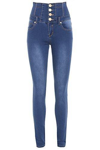 Vintage SS7 para Vaqueros Blue mujer Denim zz7SqOwI