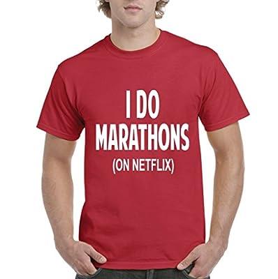Acacia I Do Marathons (On Netflix) - Best Selling Gifts Mens T-Shirt Tee