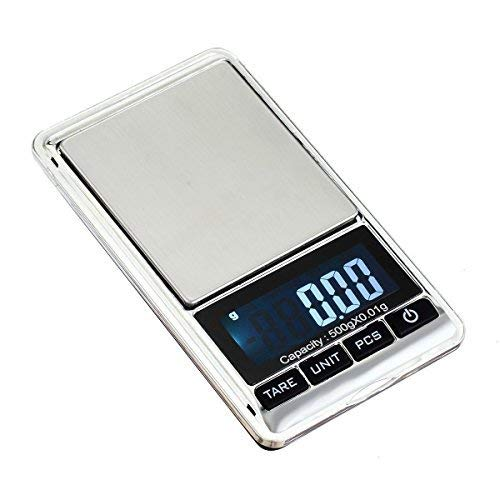 Digital Scale 500g/0.01g Batteries Included Pocket Mini 500g x 0.01g Electronic LCD Weight Balance Jewelry Gold Silver Coin Grain Gram Herb