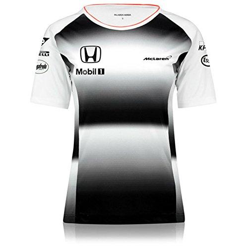 Honda Team T-shirt - Honda MCLAREN Team T-Shirt Ladies 2016 Replica (Small)