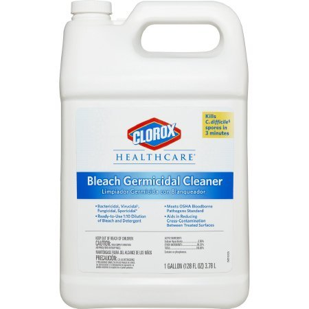 Clorox Healthcare 68978 Hospital Cleaner Disinfectant w/Bleach 128 oz Refill 4/Carton