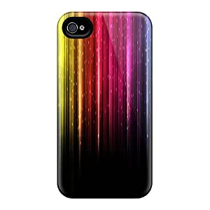 Premium Colorful Lights Heavy-duty Protection Case For Iphone 4/4s