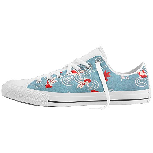 Chinese Element Goldfish Art Low-Cut Canvas Shoes Unisex Sneaker-All Season Casual Trainers For Men And Women ColourName Sizekey