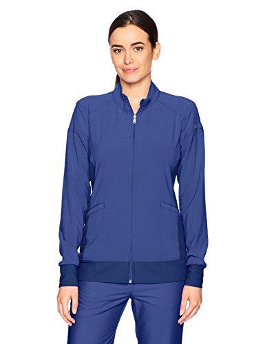 Cherokee Women's Iflex Zip Front Warm-up Jacket, Navy, M